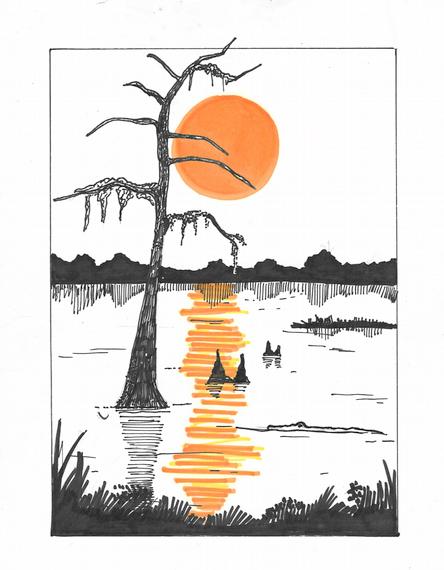 Cypress Bayou Scene