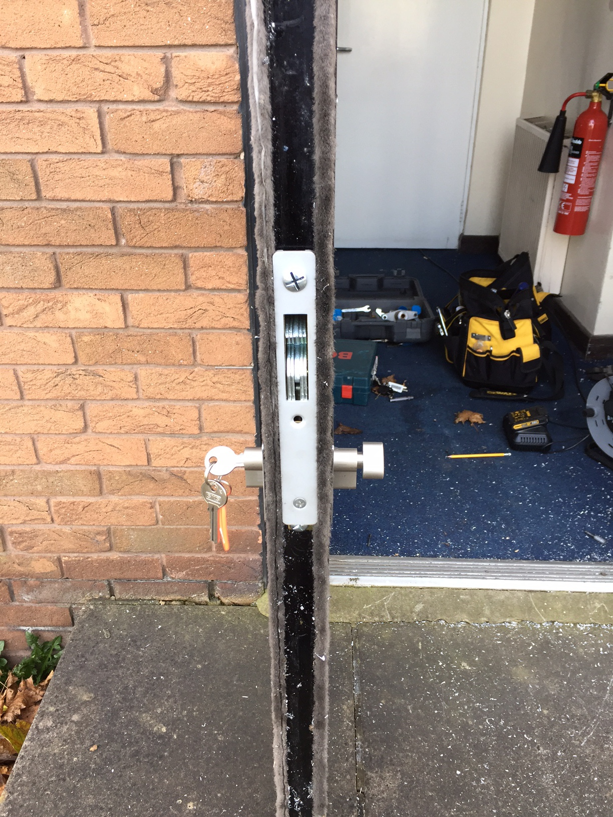 Locksmiths Barton upon humber Fire exit Secured