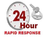 24 Hour locksmiths logo