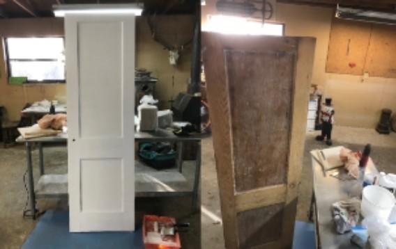 Bathroom Door Refinish