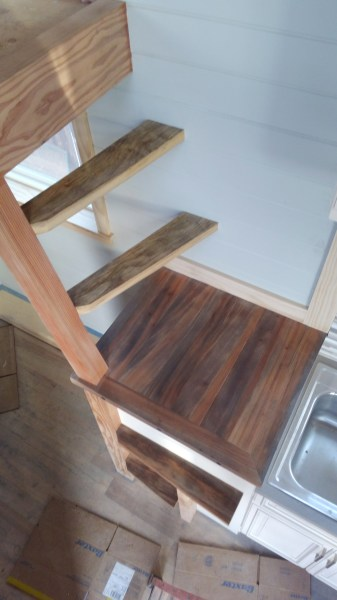 Ucycled tank rack staircase