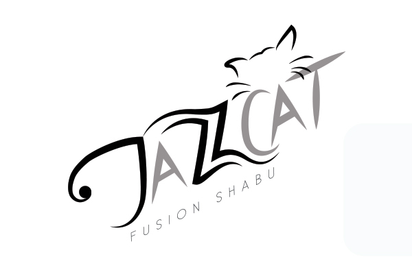 Jazzcat Fusion Shabu Logo - Grayscale