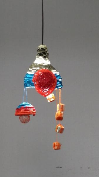 Fiber Art, Coiling Hanging Lamp