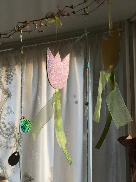 Cardboard tulips, polenta and five dollar bills