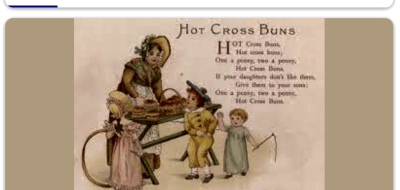 HOT CROSS BUNS. A Legend According to An Old Italian Great Grama (Who kind of bent the rules.)