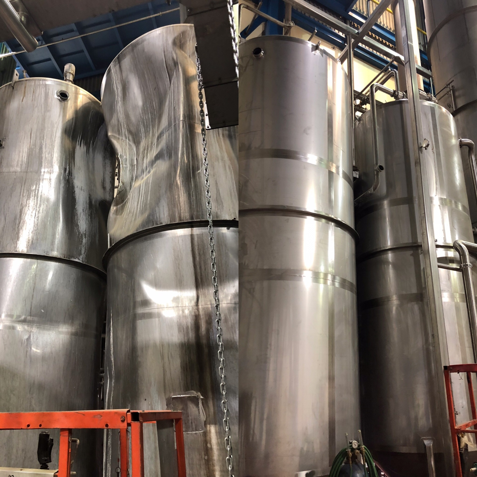 Replacement Installation of new CIP Tanks