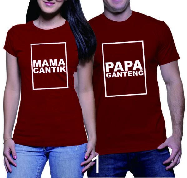 Kaos Couple Mama Papa