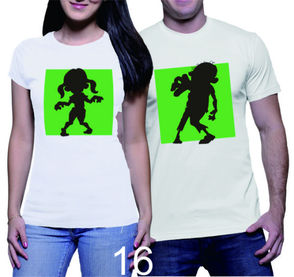 Kaos Couple Zombie Kids