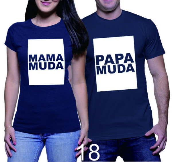Kaos Couple Mama Papa Muda