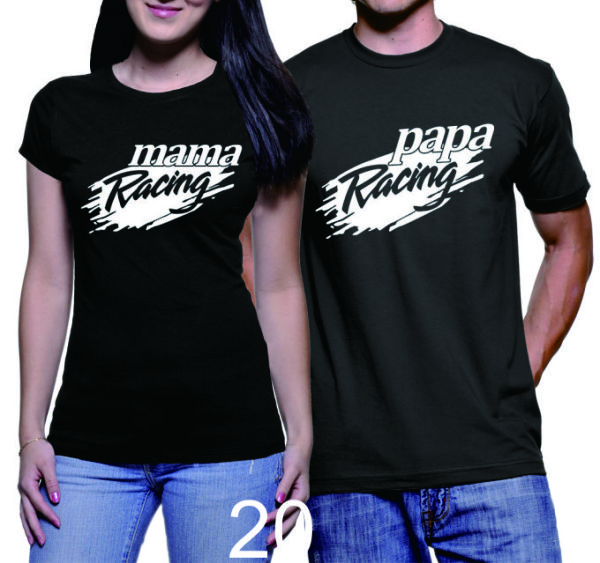 Kaos Couple Mama Papa Racing