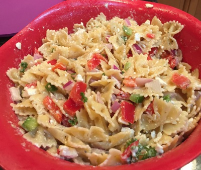 Owen and Alexis's  Easy Pasta salad