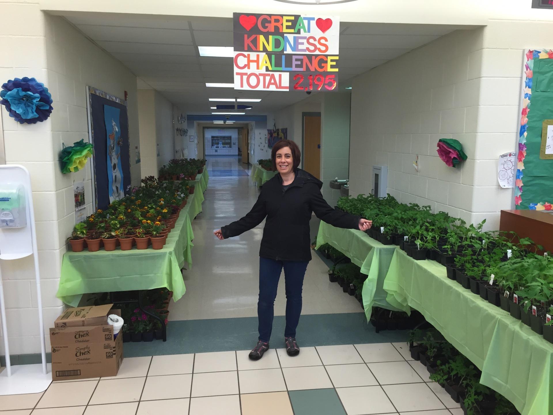 Plant Sale at my Twins School