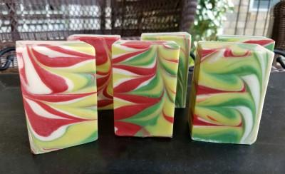 Peppermint Stick Buttermilk Christmas Soap