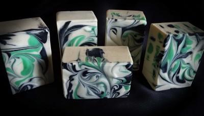 Lavender Basil Mint Goat Milk Soap