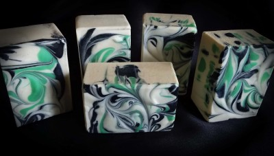 Lavender Basil Mint Goat Milk Soap