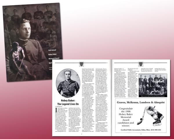Hobey Baker Award Program by WiM Designs