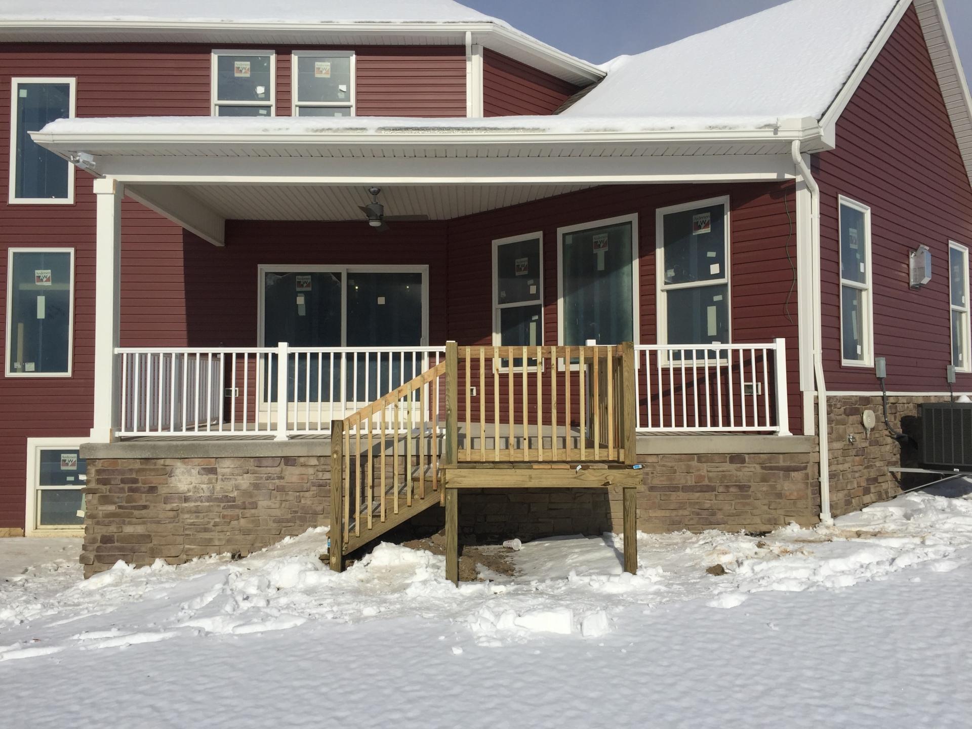 Porch Railing & Steps