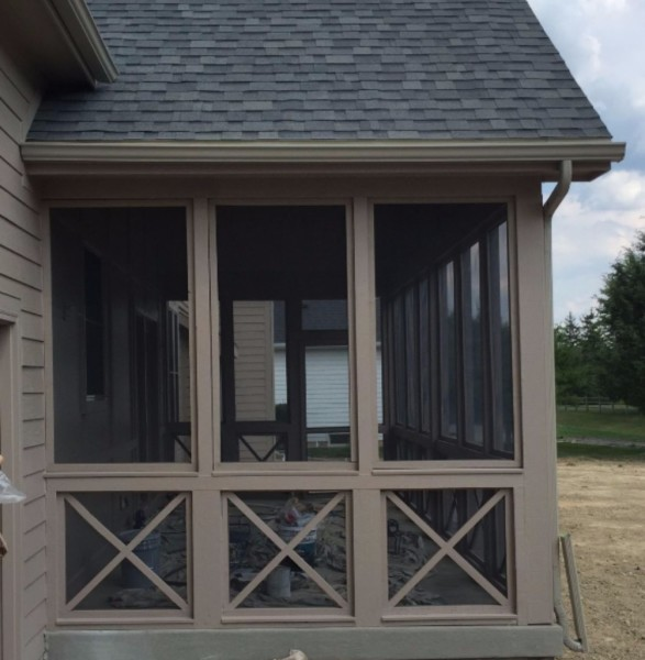 Screened In Back Porch