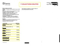 7 collections deleted