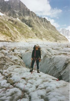 Duncan Boar, mere du glace, mont blanc massif