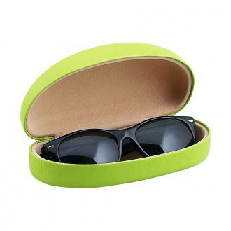 Lime Green Eyeglass Case W/ Hinge