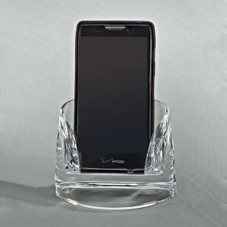 Clearylic Bow Front Mobile Phone Stand
