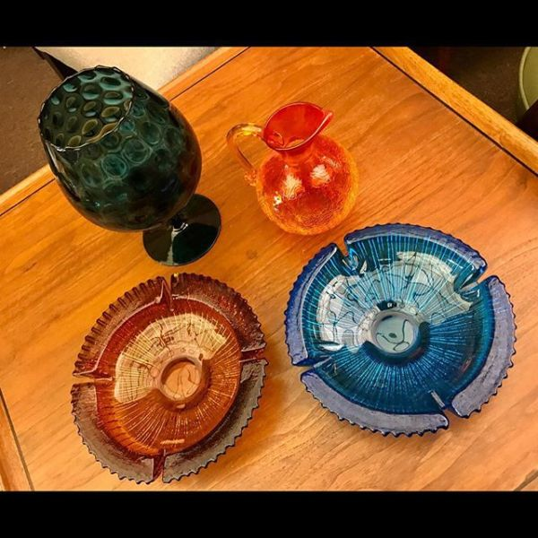 Blenko Ashtrays and Italian Glass