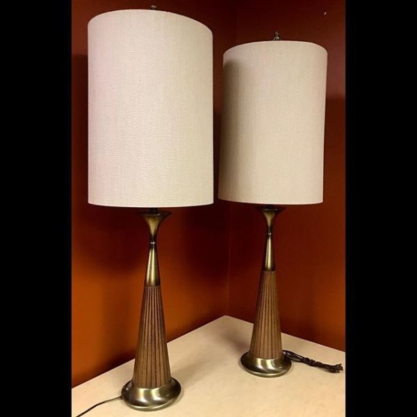 Pair of mid-century table lamps