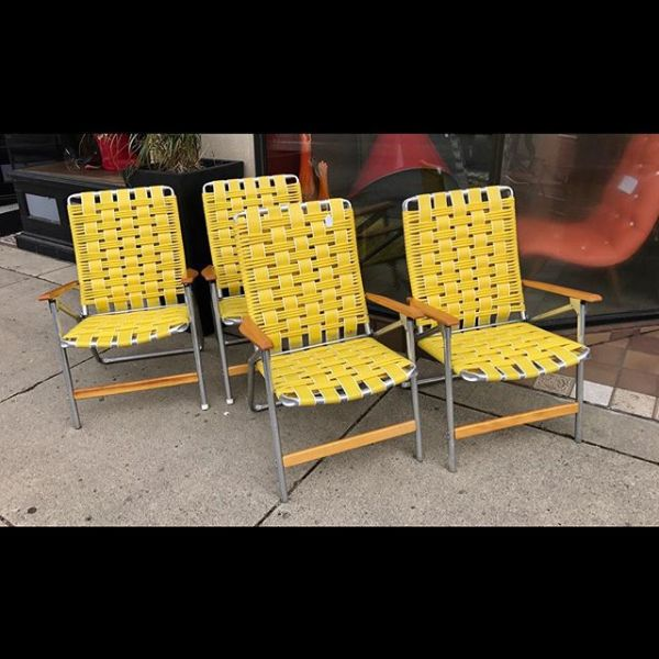 Original Yellow Folding Chairs