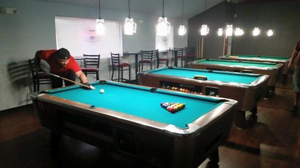 Upstairs pool hall