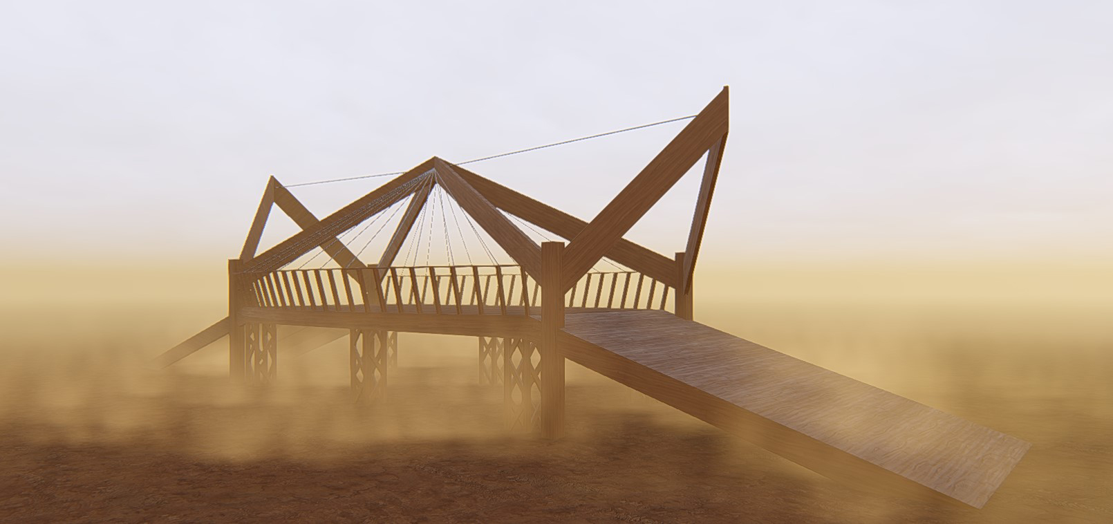 Burning Man Bridge Rendering