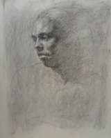 Stephanie Paige Thomson, Stephanie's Sketches, Classical Portraiture, Charcoal, Charcoal Portrait, Alla Prima, Drawn from Life, Life Drawing