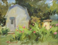 Stephanie Paige Thomson, Landscape Painting, Plein Air Painting, Outdoor Artist, Beehive, Shed, Alla Prima, Oil Painting, Stephanie's Sketches
