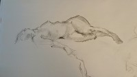 Stephanie Paige Thomson, Stephanie's Sketches, Gesture Drawing, Quick Pose, Alla Prima, Drawn from Life, Life Drawing