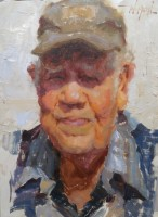 Stephanie Paige Thomson, Stephanie's Sketches, Oil Painting, Oil Portraiture, Alla Prima, Painted from Life, World War II Veteran, Farmer