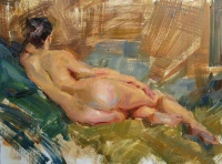 Stephanie Paige Thomson, Fine Artist, Life Drawing, Alla Prima, Painted from Life, Nude Painting, Reclining Nude, Transparency, Paint Texture, Rhythm, Stephanie's Sketches