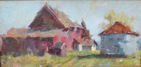 Stephanie Paige Thomson, Oil Painting, Stories, Hoosier Salon Gallery, Country Art, Fine Art, Barn Painting