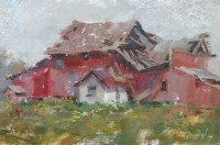 Stephanie Paige Thomson, Fine Art, Oil Painting, Barn Painting, Country Art, Stories, Hoosier Salon Gallery