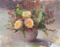 stephanie paige thomson, oil painting, flower painting