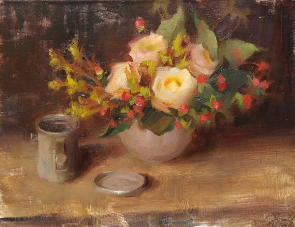 stephanie paige thomson, oil painting, still life, flower painting
