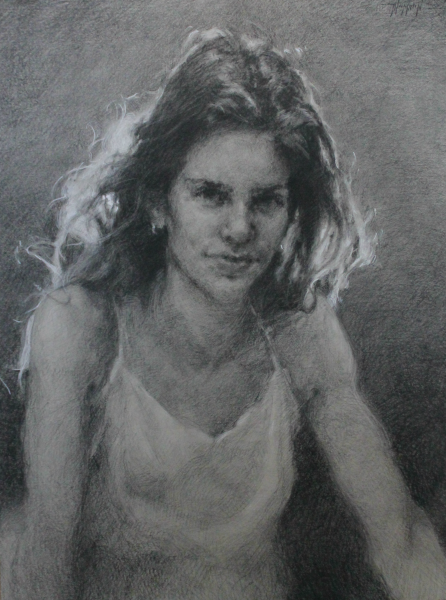 stephanie paige thomson, charcoal drawing, portraiture