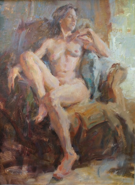 stephanie paige thomson, oil painting, figurative art