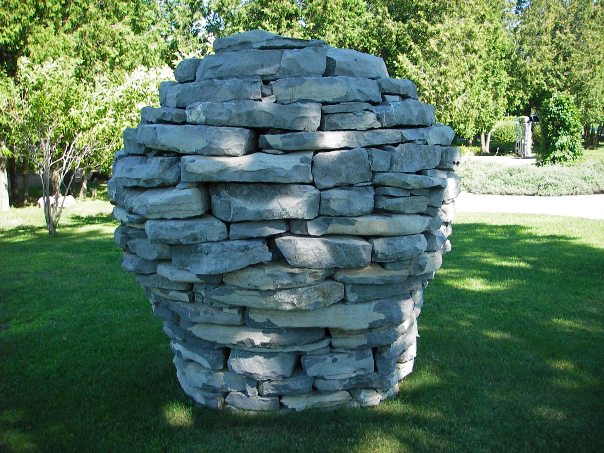 """Built for Mary Dial 2005 by Luke Wiseman Taylor.  Luke is listed as a co-creator and """"stone artist"""" in the Smithsonian Institution's Garden Club of America Collection, """"Gardens at Fox Run,"""" 2006-2007."""