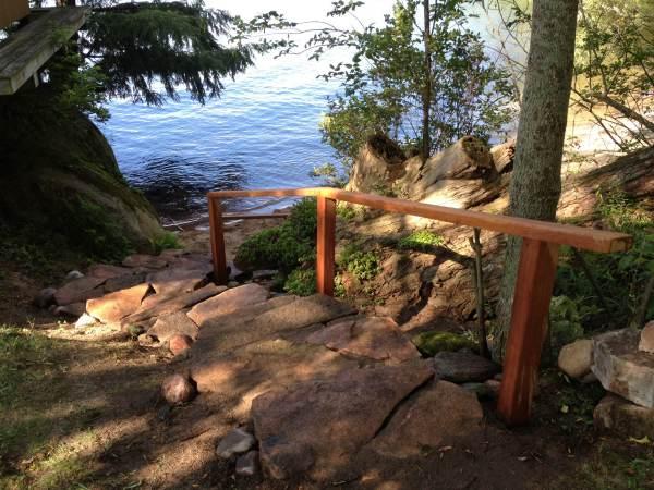 Dry Lay Pink Granite Beach Steps
