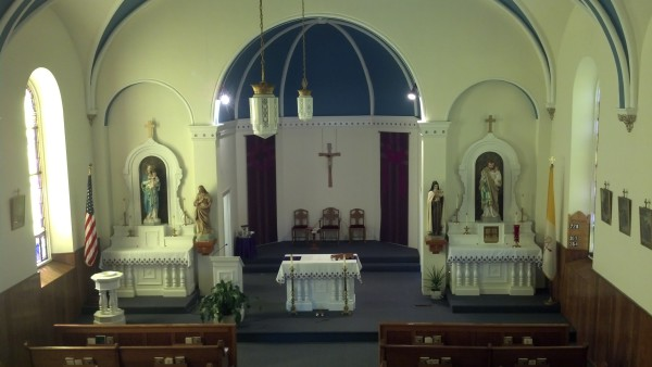 Inside of Holy Cross Church