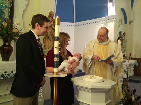 Baptism with Godparents and Priest