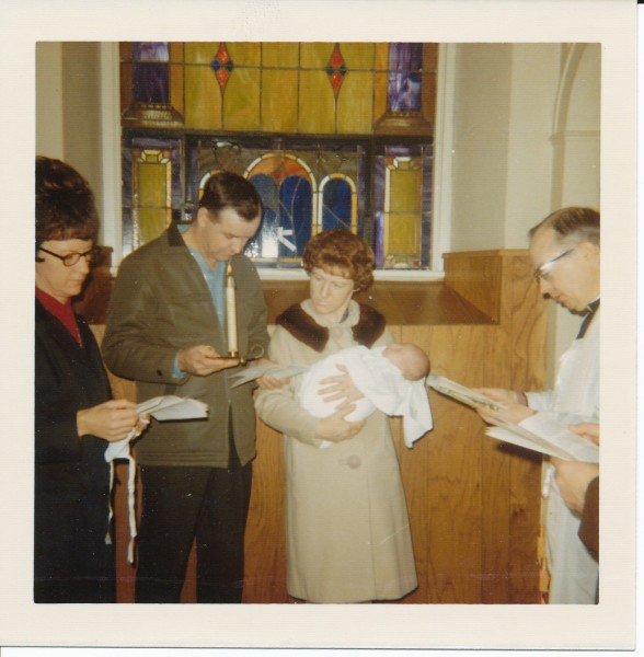 1972 Baptism (Bernard, Sue, & Steve Hessig)
