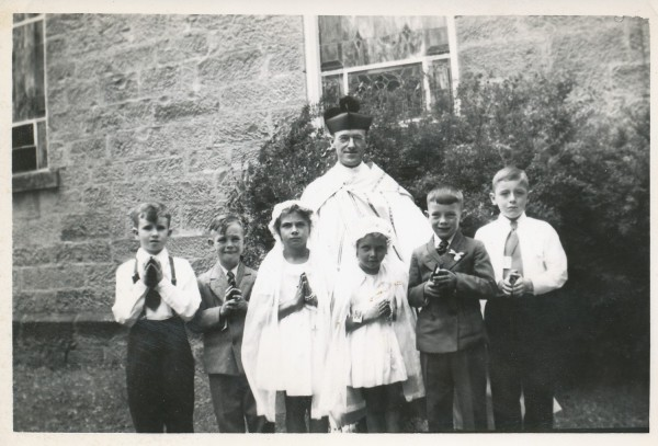 Bishop with Communicants
