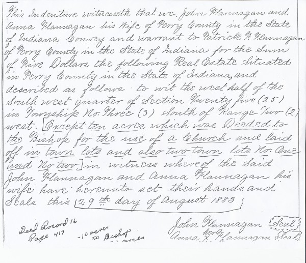 1883 Deed for Church Property