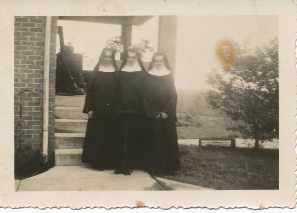 1940s Nuns on Rectory Steps